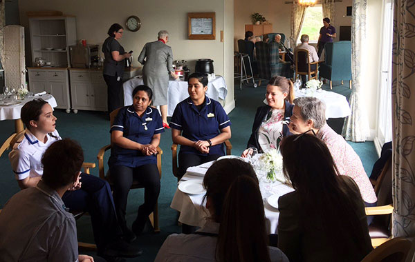Andrea meets some of the nurses and students at Herefordshire Care Homes