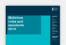Midwives rules and standards publication cover