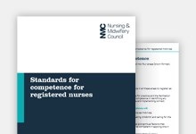 Standards for competence for registered nurses publication cover
