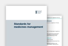 Standards for medicines management publication cover