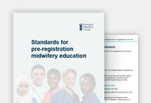 Standards for pre-registration midwifery education publication cover