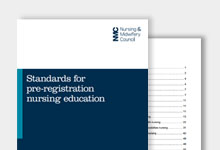 Thumbnail for Standards for pre-registraton nursing education