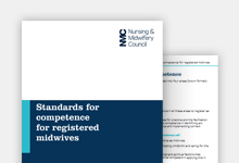 Standards of competence for registered midwives publication cover