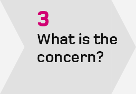 Step 3 - What is the concern?