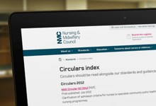 picture of circular index page on the website